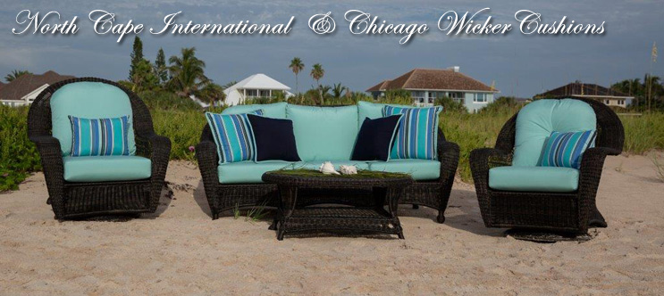 North Cape International And Chicago Wicker Replacement Cushions